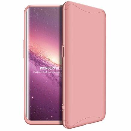 360 Protection pouzdro na přední i zadní část telefonu Oppo Find X růžové