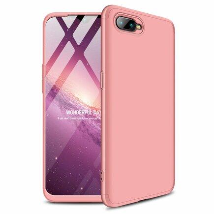 360 Protection pouzdro na přední i zadní část telefonu Oppo RX17 Neo růžové