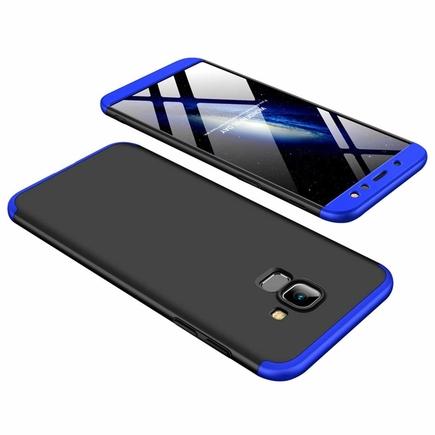 360 Protection pouzdro na přední i zadní část telefonu Samsung Galaxy A6 2018 A600 černo-modré