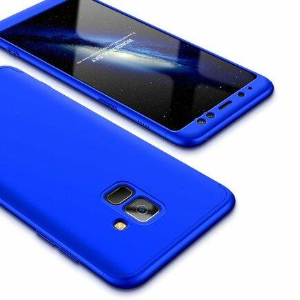 360 Protection pouzdro na přední i zadní část telefonu Samsung Galaxy A6 2018 A600 modré