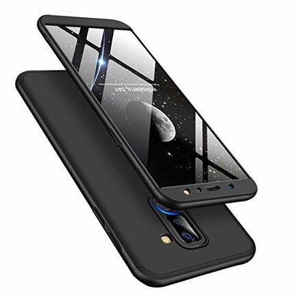 360 Protection pouzdro na přední i zadní část telefonu Samsung Galaxy A6 Plus 2018 A605 černé