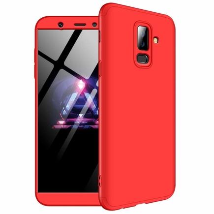 360 Protection pouzdro na přední i zadní část telefonu Samsung Galaxy A6 Plus 2018 A605 červené