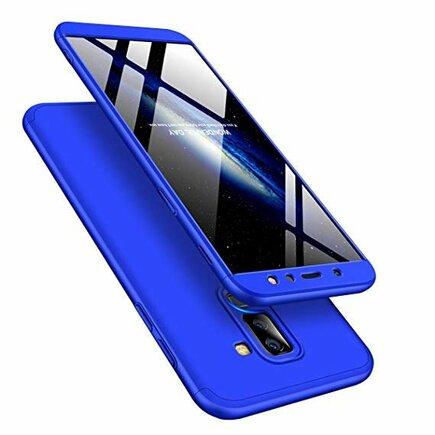 360 Protection pouzdro na přední i zadní část telefonu Samsung Galaxy A6 Plus 2018 A605 modré