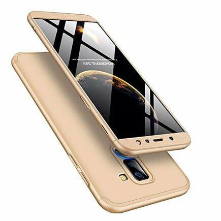 360 Protection pouzdro na přední i zadní část telefonu Samsung Galaxy A6 Plus 2018 A605 zlaté