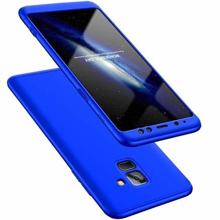 360 Protection pouzdro na přední i zadní část telefonu Samsung Galaxy A8 2018 A530 modré