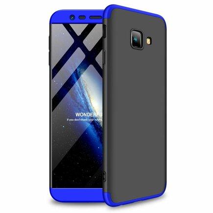 360 Protection pouzdro na přední i zadní část telefonu Samsung Galaxy J4 Plus 2018 J415 černo-modré