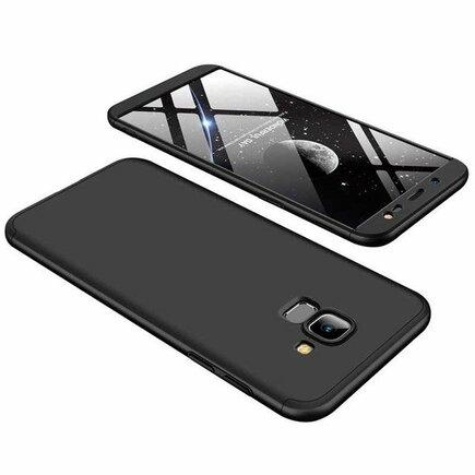 360 Protection pouzdro na přední i zadní část telefonu Samsung Galaxy J6 J600 2018 černé