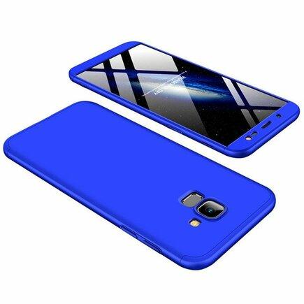 360 Protection pouzdro na přední i zadní část telefonu Samsung Galaxy J6 J600 2018 modré