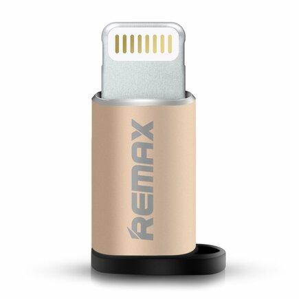 Adaptér z micro USB na Lightning zlatý