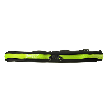 Běžecký opasek s dvojitou kapsičkou pro telefon zelený