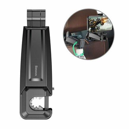 Backseat vehicle holder držák do auta na telefon 4.0''-6.5'' na záhlaví černý (SUHZ-A01)