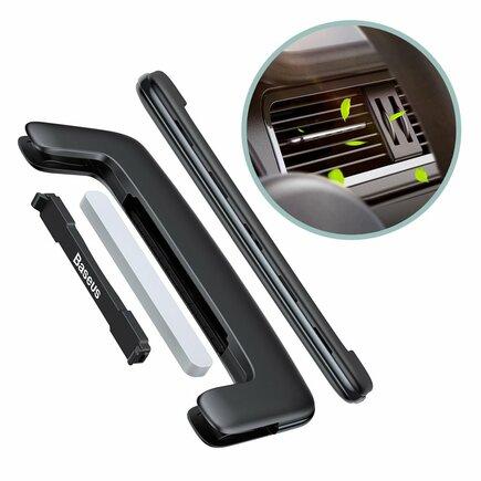 Baseus Paddle ultratenký osvěžovač vzduchu do auta na ventilační mřížku černý (SUXUN-BP01)