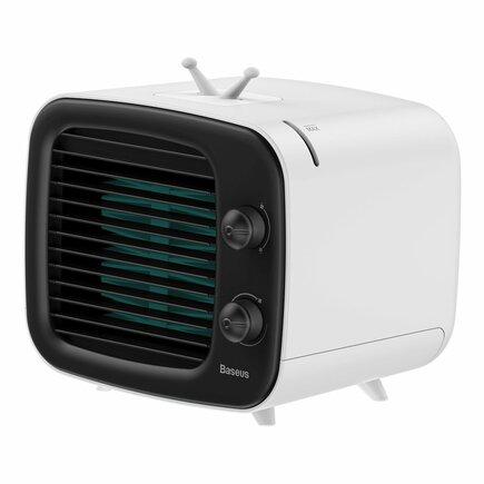 Baseus přenosný mini ventilátor klimatizace USB bílo-černý (CXTM-21)