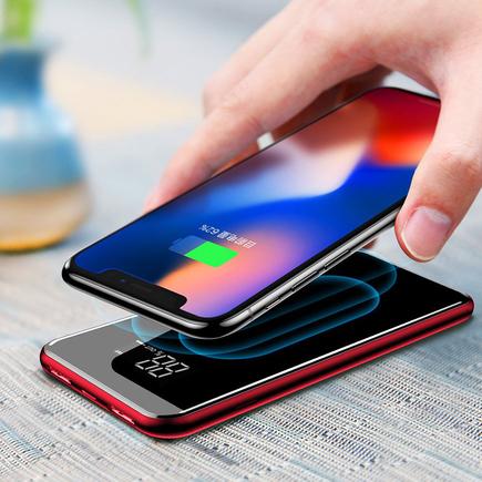 Bracket Wireless Charger power banka 8000 mAh bezdrátová nabíječka Qi červená (PPALL-EX09)