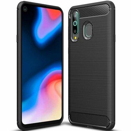 Carbon Case elastické pouzdro Huawei Honor 20 Lite černé