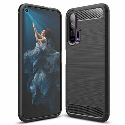 Carbon Case elastické pouzdro Huawei Honor 20 Pro černé