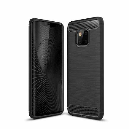 Carbon Case elastické pouzdro Huawei Mate 20 Pro černé