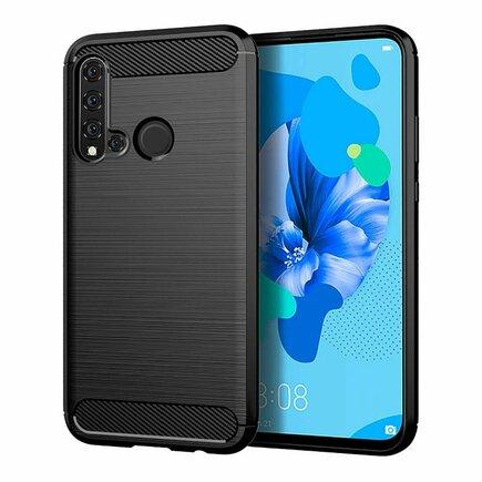 Carbon Case elastické pouzdro Huawei P20 Lite 2019 / Nova 5i černé