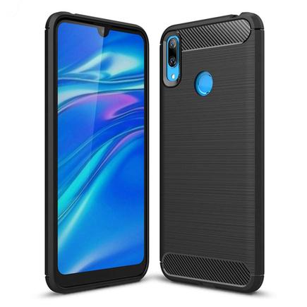 Carbon Case elastické pouzdro Huawei Y7 2019 / Y7 Prime 2019 černé
