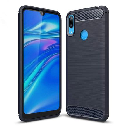 Carbon Case elastické pouzdro Huawei Y7 2019 / Y7 Prime 2019 modré