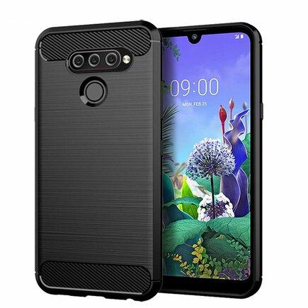Carbon Case elastické pouzdro LG Q60 černé