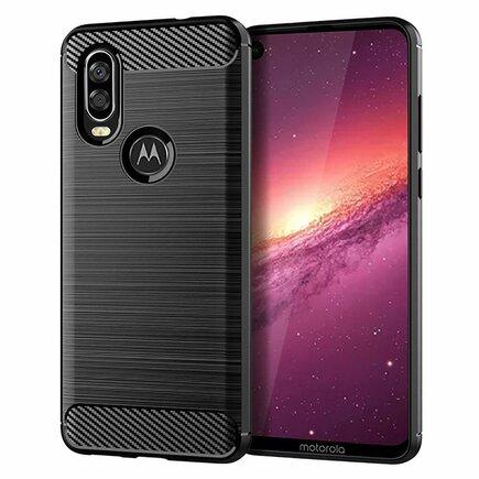 Carbon Case elastické pouzdro Motorola One Vision černé