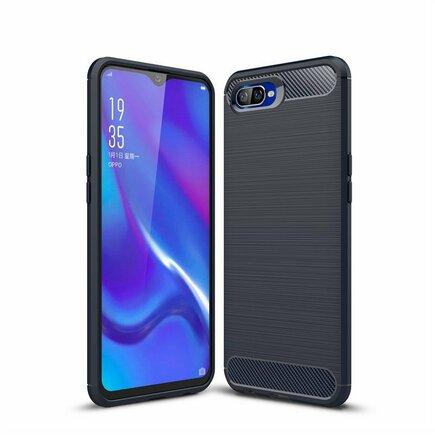 Carbon Case elastické pouzdro Oppo RX17 Neo modré