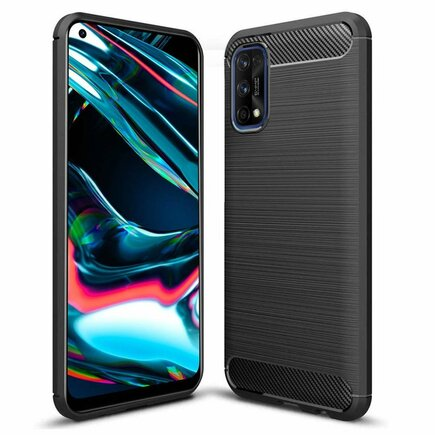 Carbon Case elastické pouzdro Realme 7 Pro černé