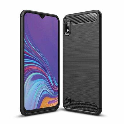 Carbon Case elastické pouzdro Samsung Galaxy A10 černé