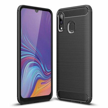 Carbon Case elastické pouzdro Samsung Galaxy A30 černé