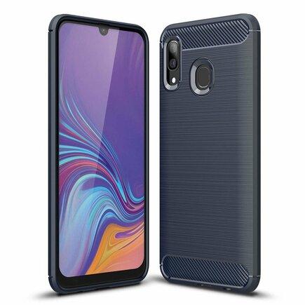 Carbon Case elastické pouzdro Samsung Galaxy A30 modré