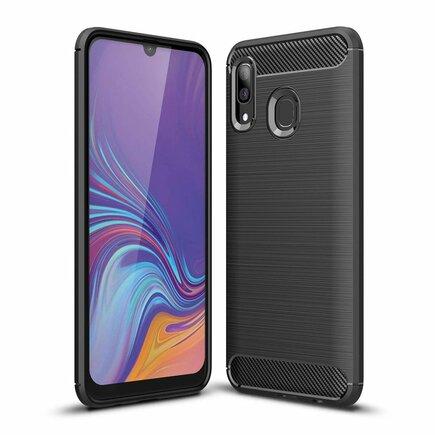 Carbon Case elastické pouzdro Samsung Galaxy A40 černé