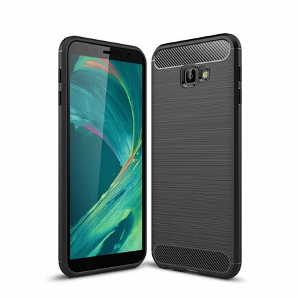 Carbon Case elastické pouzdro Samsung Galaxy J4 Plus 2018 J415 černé