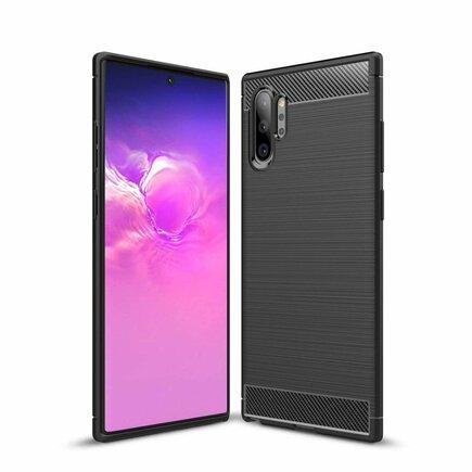 Carbon Case elastické pouzdro Samsung Galaxy Note 10 Plus černé