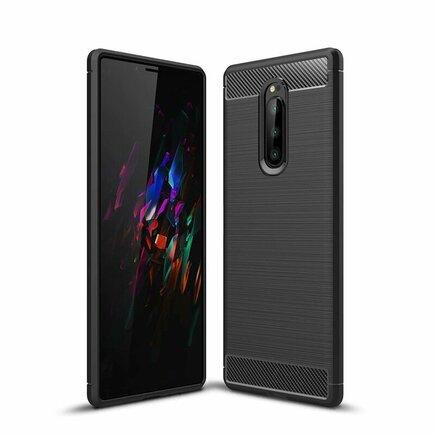 Carbon Case elastické pouzdro Sony Xperia 1 černé