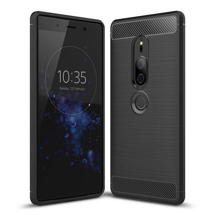 Carbon Case elastické pouzdro Sony Xperia XZ2 černé