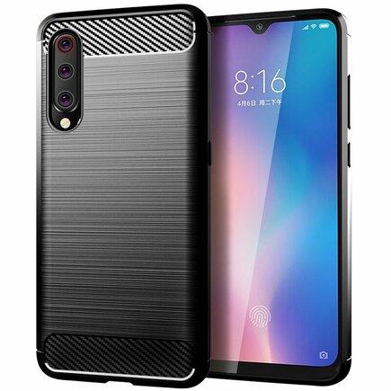 Carbon Case elastické pouzdro Xiaomi Mi 9 Lite / Mi CC9 černé