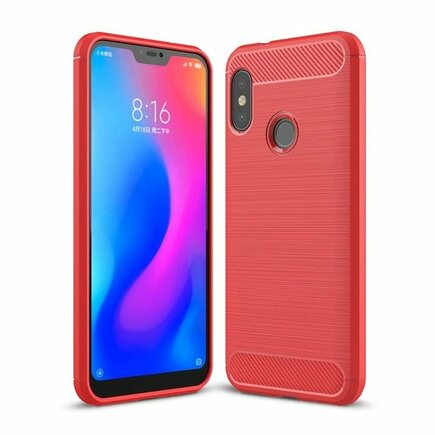 Carbon Case elastické pouzdro Xiaomi Mi A2 Lite / Redmi 6 Pro červené