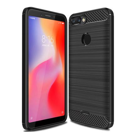 Carbon Case elastické pouzdro Xiaomi Redmi 6 černé