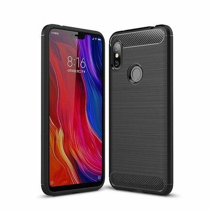 Carbon Case elastické pouzdro Xiaomi Redmi Note 6 Pro černé
