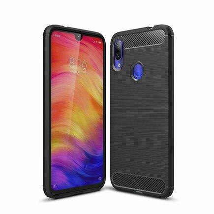 Carbon Case elastické pouzdro Xiaomi Redmi Note 7 černé