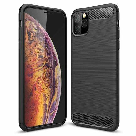 Carbon Case elastické pouzdro iPhone 11 Pro Max černé