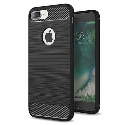 Carbon Case elastické pouzdro iPhone 8 Plus / 7 Plus černé
