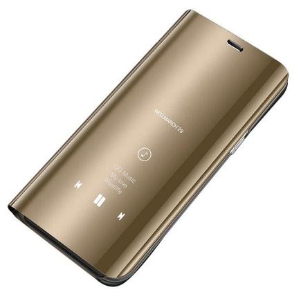 Clear View Case pouzdro s inteligentní klapkou Samsung Galaxy S7 Edge G935 zlaté