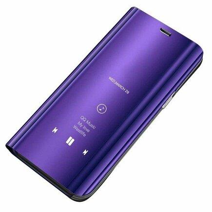Clear View Case pouzdro s inteligentní klapkou Samsung Galaxy S9 Plus G965 fialové