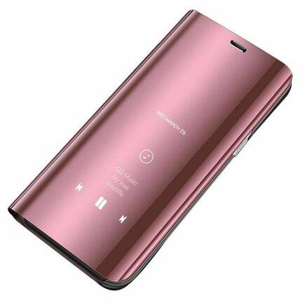 Clear View Case pouzdro s klapkou Huawei P Smart 2019 růžové