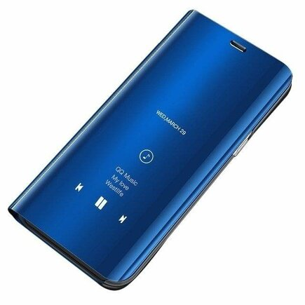 Clear View Case pouzdro s klapkou Huawei Y7 2019 / Y7 Prime 2019 modré
