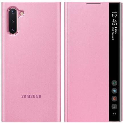 Clear View Standing Cover pouzdro s inteligentní klapkou Samsung Galaxy Note 10 růžové (EF-ZN970CPEGWW)