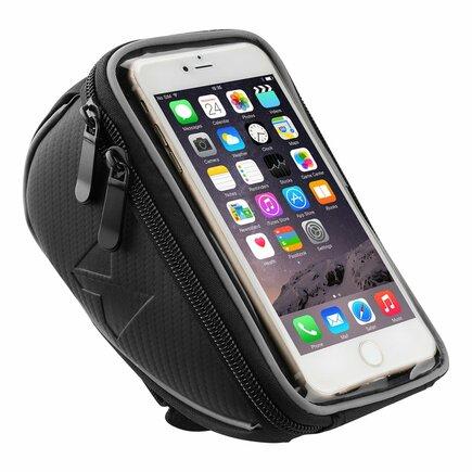 Cyklistická taška na řídítka - pouzdro na telefon do 6,5 palců černá (WBB4BK)