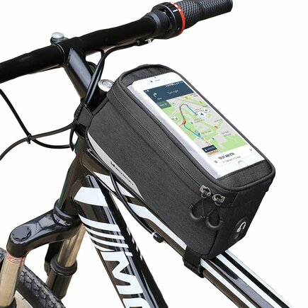 Cyklistická taška na rám pro telefon do 5,5 palců 1L černá (WBB6BK)